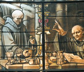 Dom Bernardo Vincelli Stained Glass Window