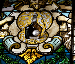 DOM Bottle Stained Glass Window