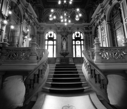 Staircase Black and White